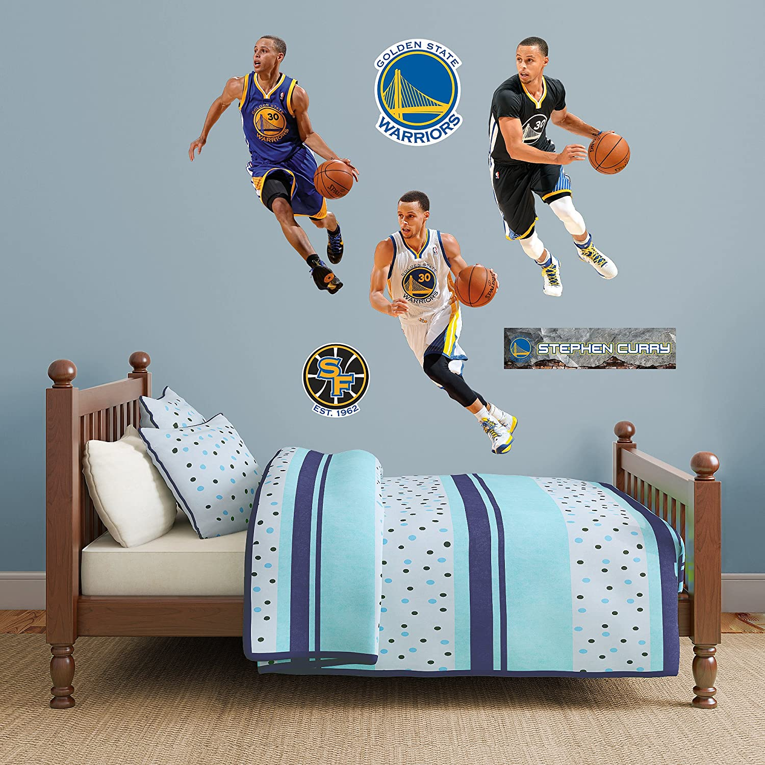 a6918b176caa Amazon.com   Fathead NBA Golden State Warriors Stephen Curry  Hero ...