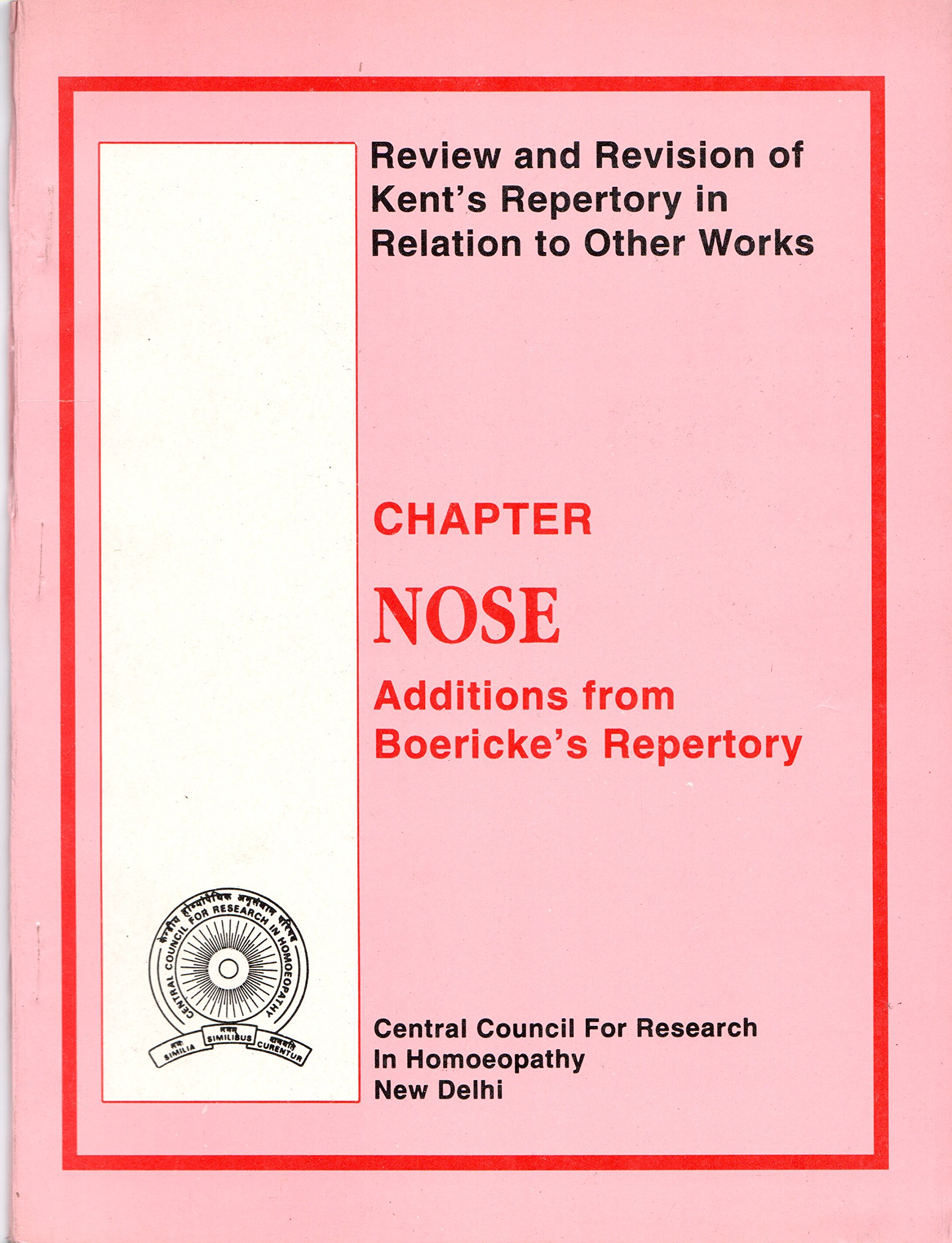 Read Online Chapter Nose Additions from Boericke's Repertory : Review and Revision of Kent's Repertory in Relation to Other Works pdf epub