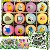Bath Bombs for Kids with Surprise Inside - Set of 12 Organic Bubble Bath Fizzies...