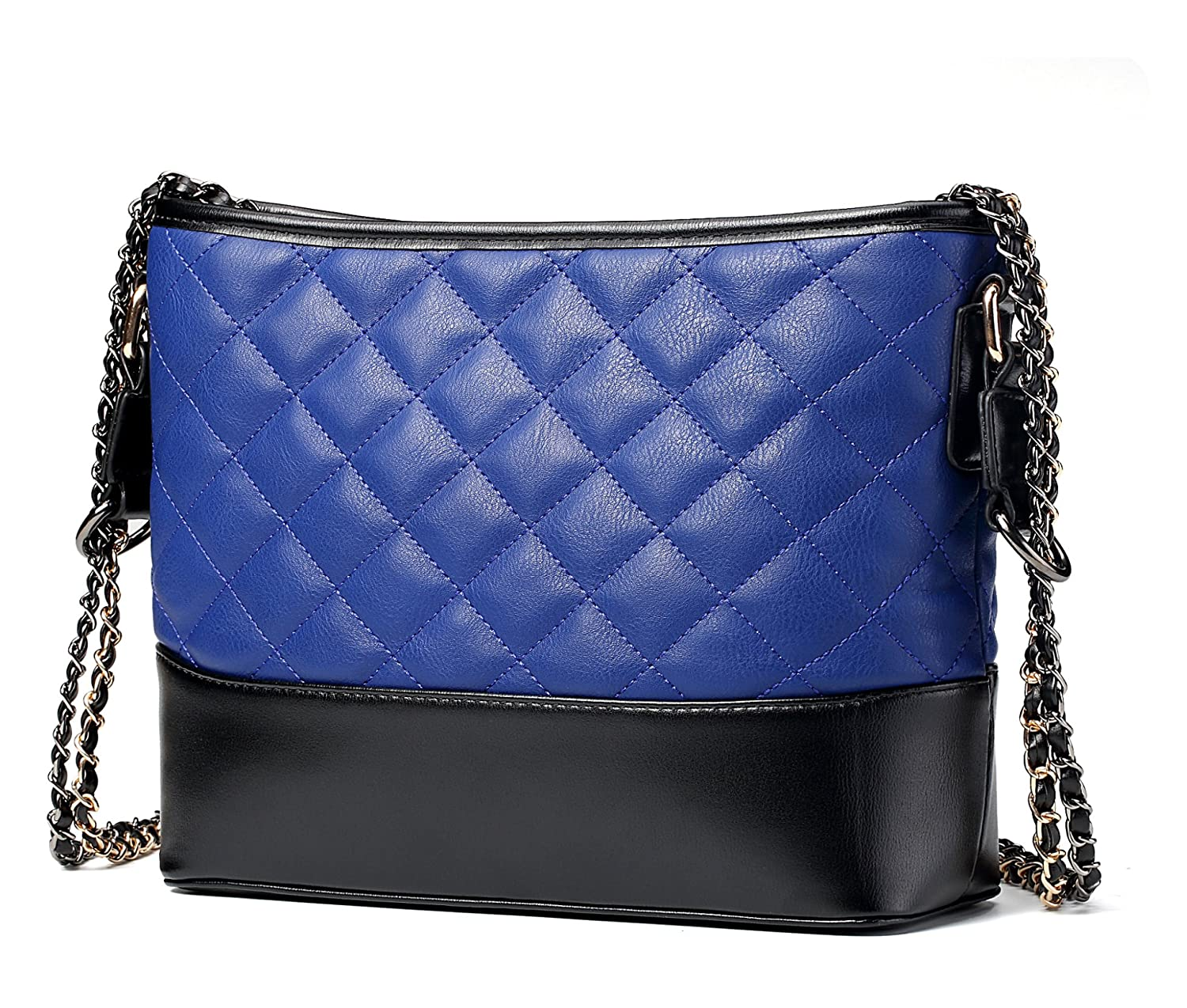 a2f233199654 Amazon.com  Women s Quilted Shoulder Bag PU Leather Crossbody Bags Fashion  Chain Satchel Handbags Purse for Women  Clothing