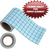 Angel Crafts 6 by 50 CLEAR Transfer Paper Tape Roll w/ Grid - PERFECT ALIGNMENT of Cricut or Silhouette Cameo Self Adhesive Vinyl for Walls, Signs, Decals, Windows, and More.