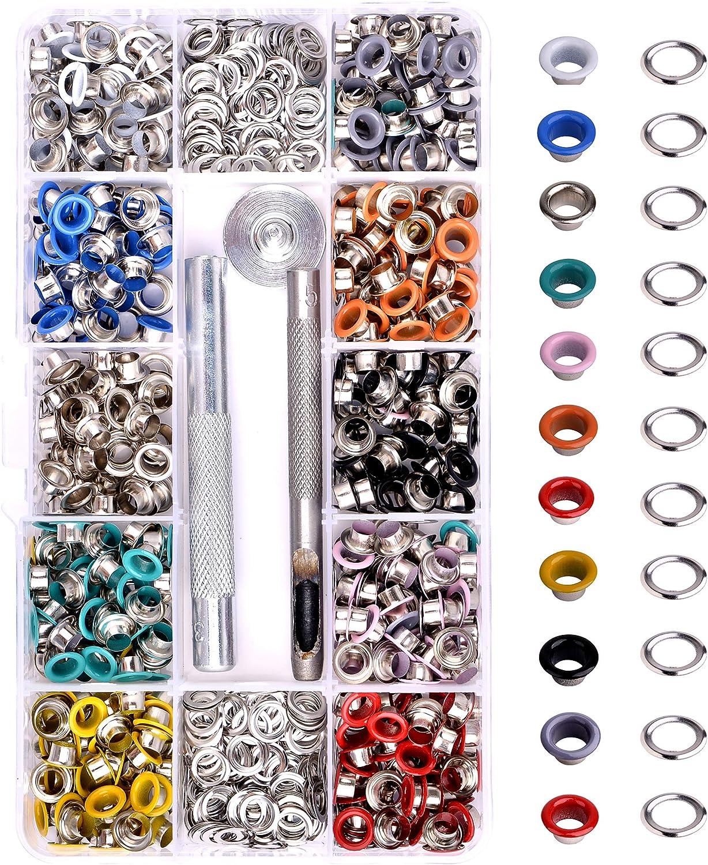 50pcs Blue Eyelets Grommet 5mm hole metal eyelets punk style FASHION MAKING  leather making Eyelets-10*6mm jy5