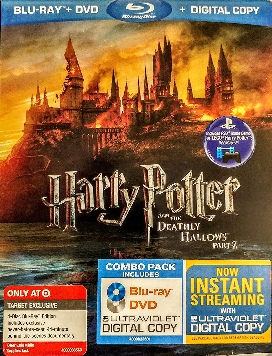 Harry Potter and the Deathly Hallows, Part 2 4-Disc Blu-ray/DVD Combo UltraViolet Digital Copy Edition with Bonus Disc by Warner Home Video by David Yates: Amazon.es: Cine y Series TV