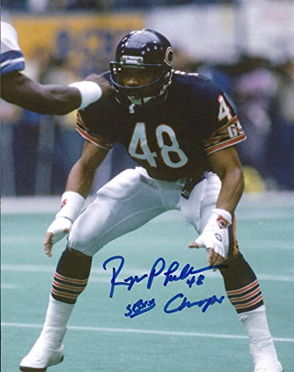 45960409 Autographed Reggie Phillips 8x10 Chicago Bears Photo at Amazon's ...