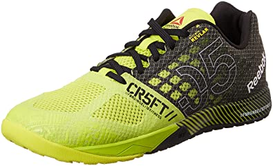 Reebok Men's R Crossfit Nano 5.0 Indoor Multisport Court Shoes Grey  Gris/Noir Yellow Size