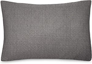 Calvin Klein Home Modern Cotton Ray Shams, King, Black/Cream