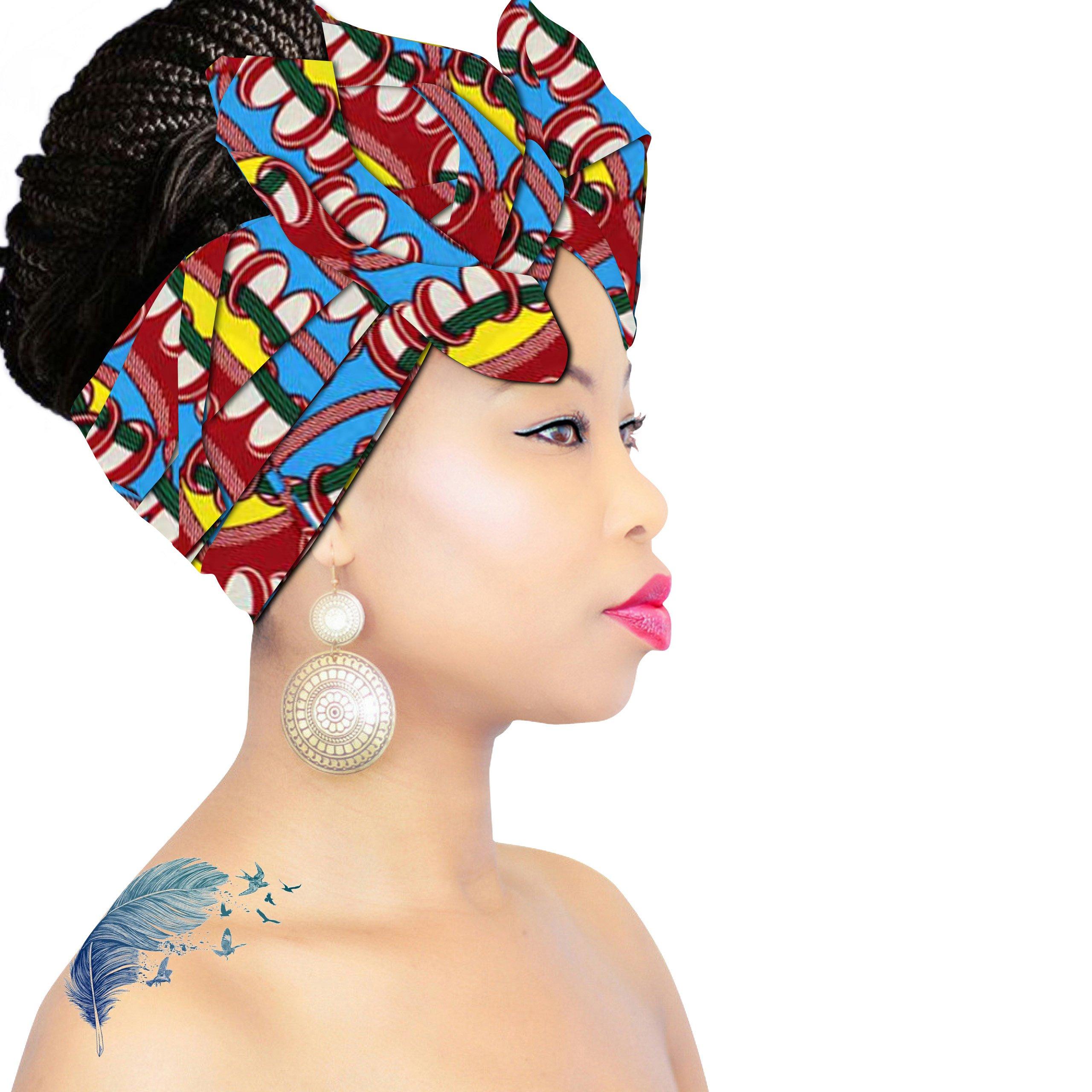 African Head Wrap   HEADBAND   HEAD WRAP   Hijab   PREMIUM QUALITY HEAD WRAP African Head Wraps Hair Loss African Fabric Turban Headband Muslim Head Cover Under Scarf