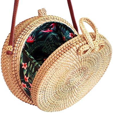 Straw Bag For Women Round Rattan Bag Boho Bag Bali Bag