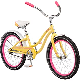 amazon com huffy fairmont 20 inch girls cruiser bike sports