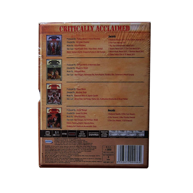 Set of 4 Bollywood Movies   Ishqiya, Raincoat, Manorama, Omkara