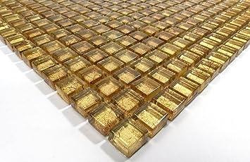 Fliesen Mosaik Mosaikfliesen Glas Glänzend Metallic Bad WC Küche Mm - Mosaik fliesen metallic