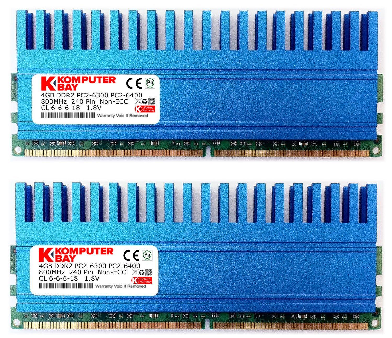 Komputerbay 8gb 4 X 2gb 240 Pin 800mhz Pc2 6400 6300 Ddr2 Dimm Ram 1gb Pc Dan 5300 Memory Module Computers Accessories