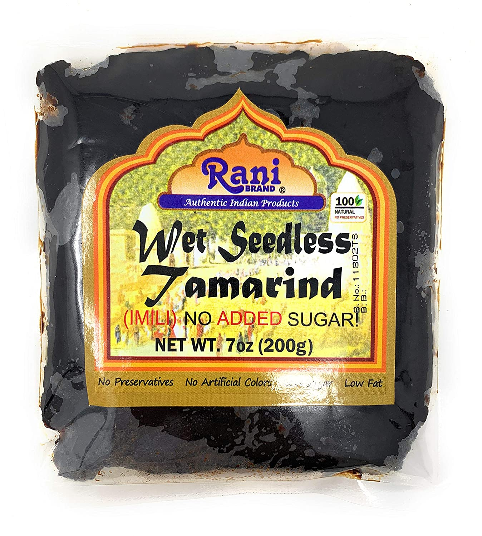 Rani Tamarind, Wet Seedless Block/Slab (Imli) 7oz (200g)