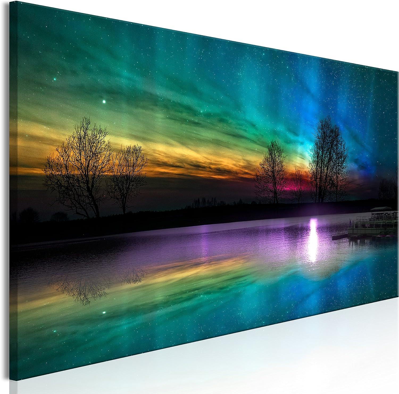 murando Cuadro en Lienzo Aurora 150x50 cm 1 Parte Impresión en Material Tejido no Tejido Impresión Artística Imagen Gráfica Decoracion de Pared Himmel c-C-0192-b-a