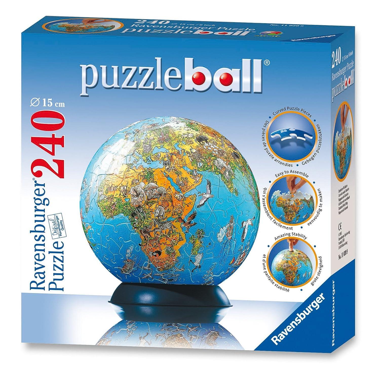 Amazon ravensburger illustrated world map 240 piece amazon ravensburger illustrated world map 240 piece puzzleball toys games gumiabroncs Images