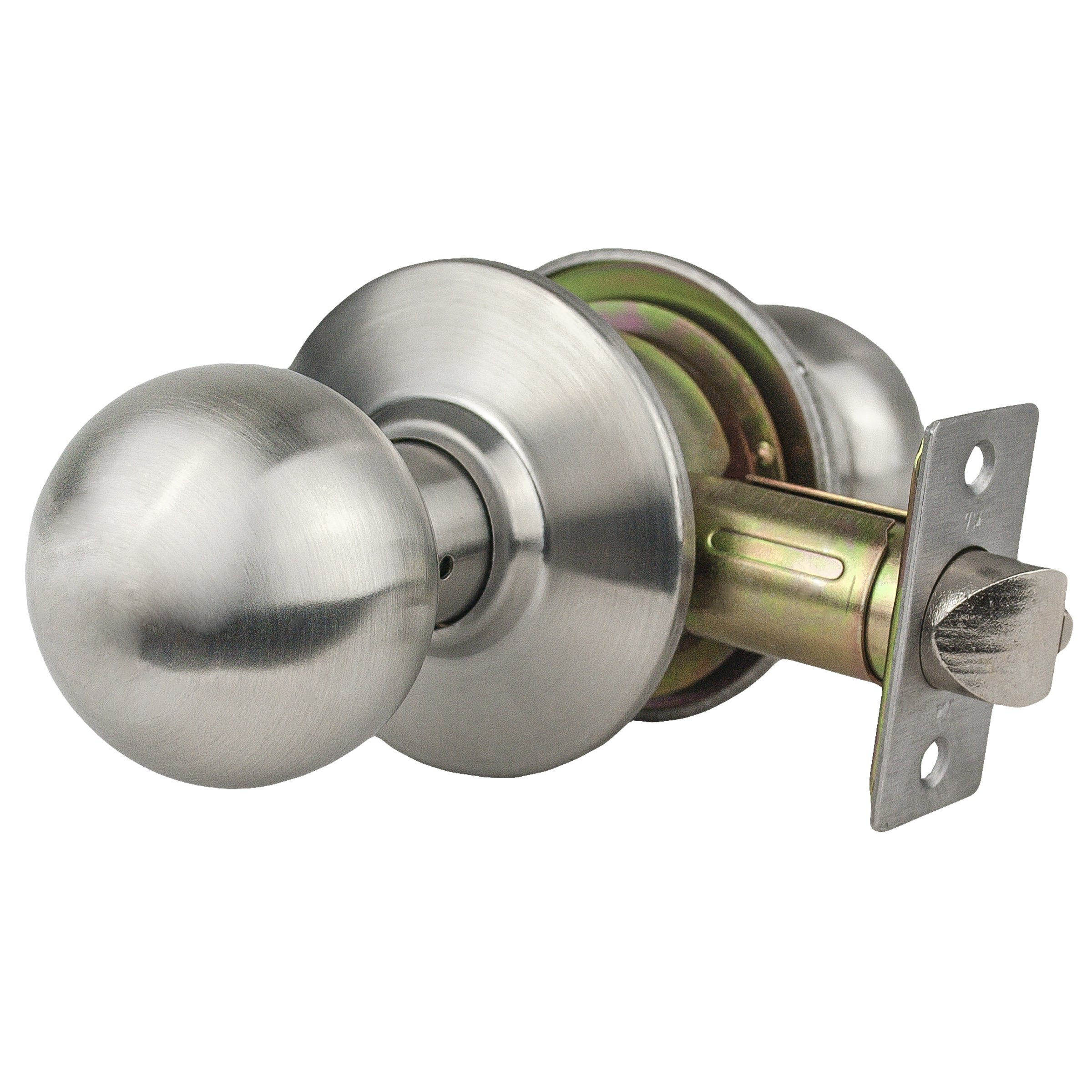 Global Door Controls GLC-5170B-626 Light Duty Commercial Cylindrical Dummy Knob In Brushed Chrome by Taco