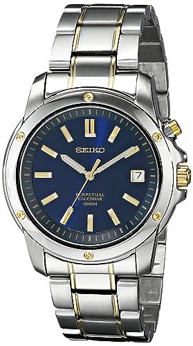 Seiko De los Hombres snq010 Calendario perpetuo Reloj: Seiko: Amazon.es: Relojes