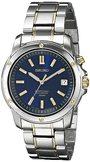 Seiko De los Hombres snq010 Calendario perpetuo Reloj