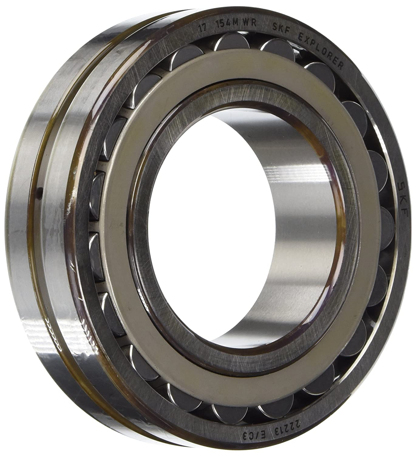 SKF 22213 E/C3 Spherical Radial Bearing, Straight Bore, Unsealed, Steel  Cage, C3 Clearance, 65mm Bore, 120mm OD, 31mm Width, 7000rpm Maximum  Rotational ...