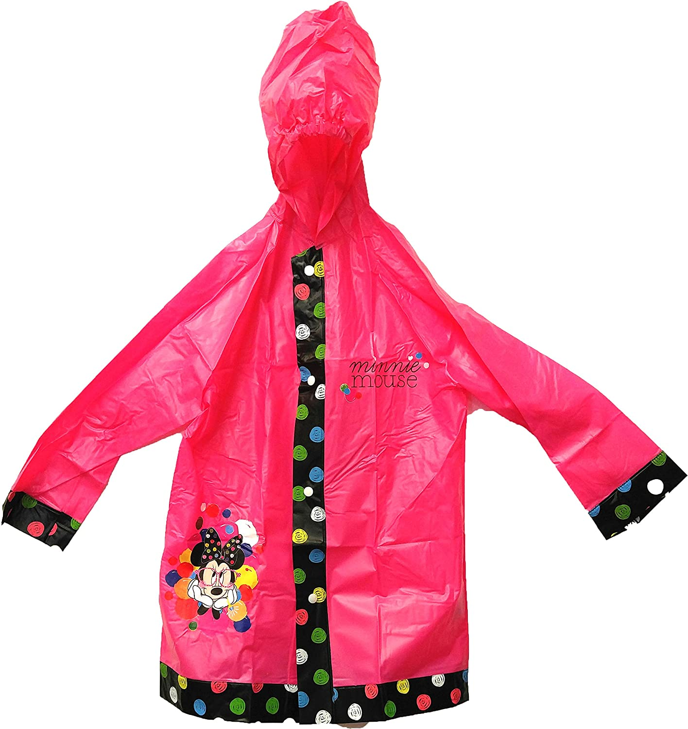 Disneys Minnie Mouse Childrens Rain Slicker in S//M