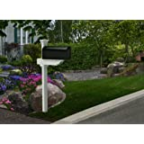 Zippity Outdoor Products ZP19010 Rockport Mailbox Post with No-Dig Steel Unassembled Pipe Anchor Kit, White