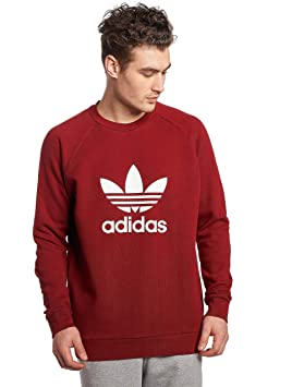 release info on popular brand good looking adidas Trefoil Crew Sweat, Homme, Rouge (rojoxi): Amazon.fr ...