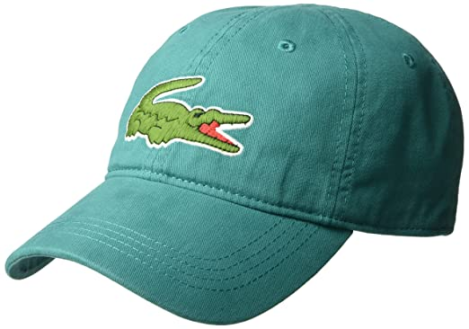 Lacoste Mens Big Croc Gabardine Cap Bailloux One Size At Amazon