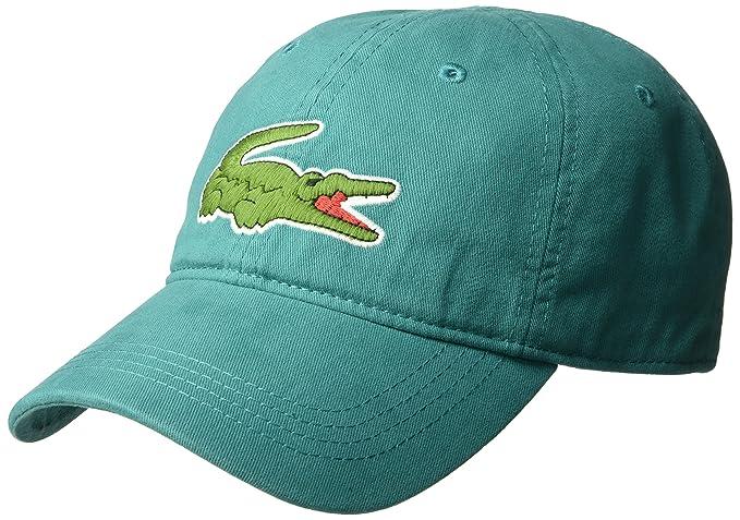 5441aed53cb Lacoste Men s Big Croc Gabardine Cap
