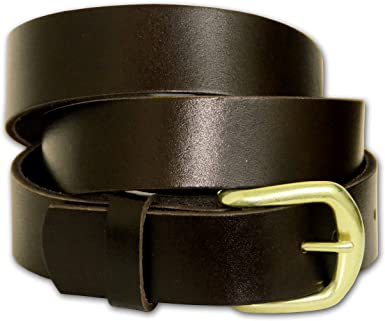 "Brown Brown Solid Leather Strap Belt 1.5/"" Made in the USA Big Size"