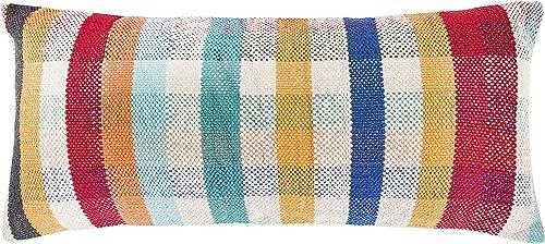Creative Co-op Multicolor Plaid Woven Madras Lumbar Pillows