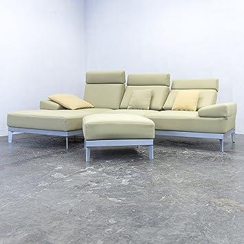 Rolf Benz Molto Designer esquina sofá verde plástico Función ...