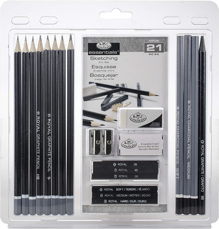 Charcoal Drawing Art Set; Sketching Pencil Charcoal Small Tin Gift Set; Royal /& Langnickel