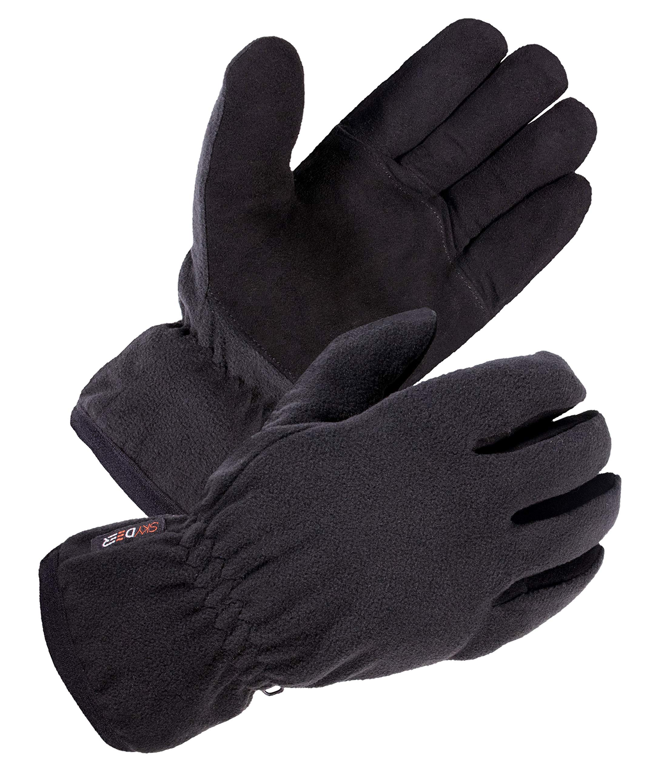 3fa81180f SKYDEER Driving Winter Gloves - Warm Soft Deerskin Suede Leather and  Windproof Polar Fleece Glove,