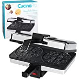 Krumkake Baker By Cucina Pro - 100% Non Stick, Makes Two Krumkake Cookies at a time