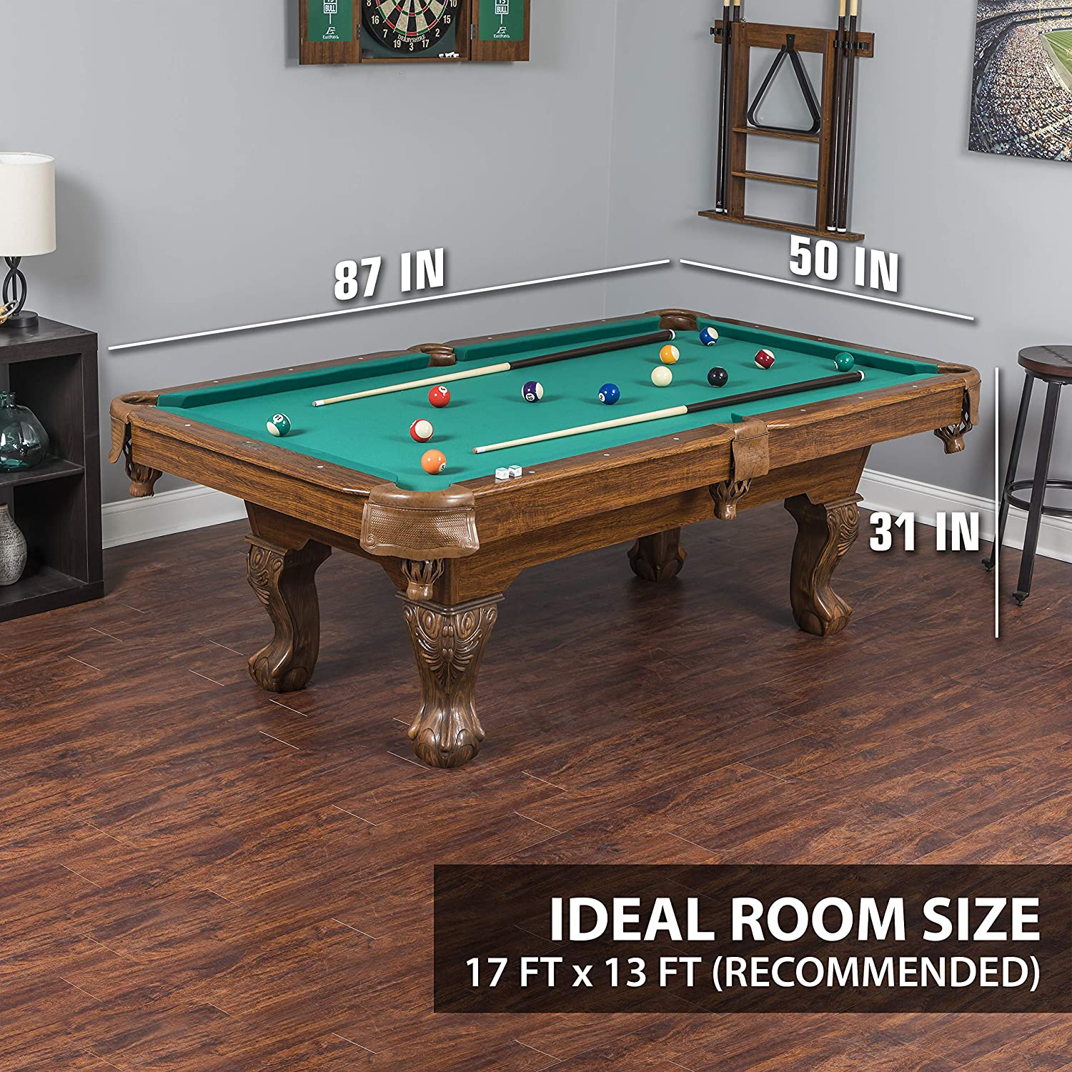 Marvelous Eastpoint Sports Masterton Billiard Pool Table 87 Inch Features Traditional Claw Legs And Parlor Style Drop Pockets Includes 2 Cues Billiards Download Free Architecture Designs Scobabritishbridgeorg