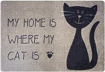 Amazon De Designer Fussmatte Katze Fur Haustur Flur Innen Und