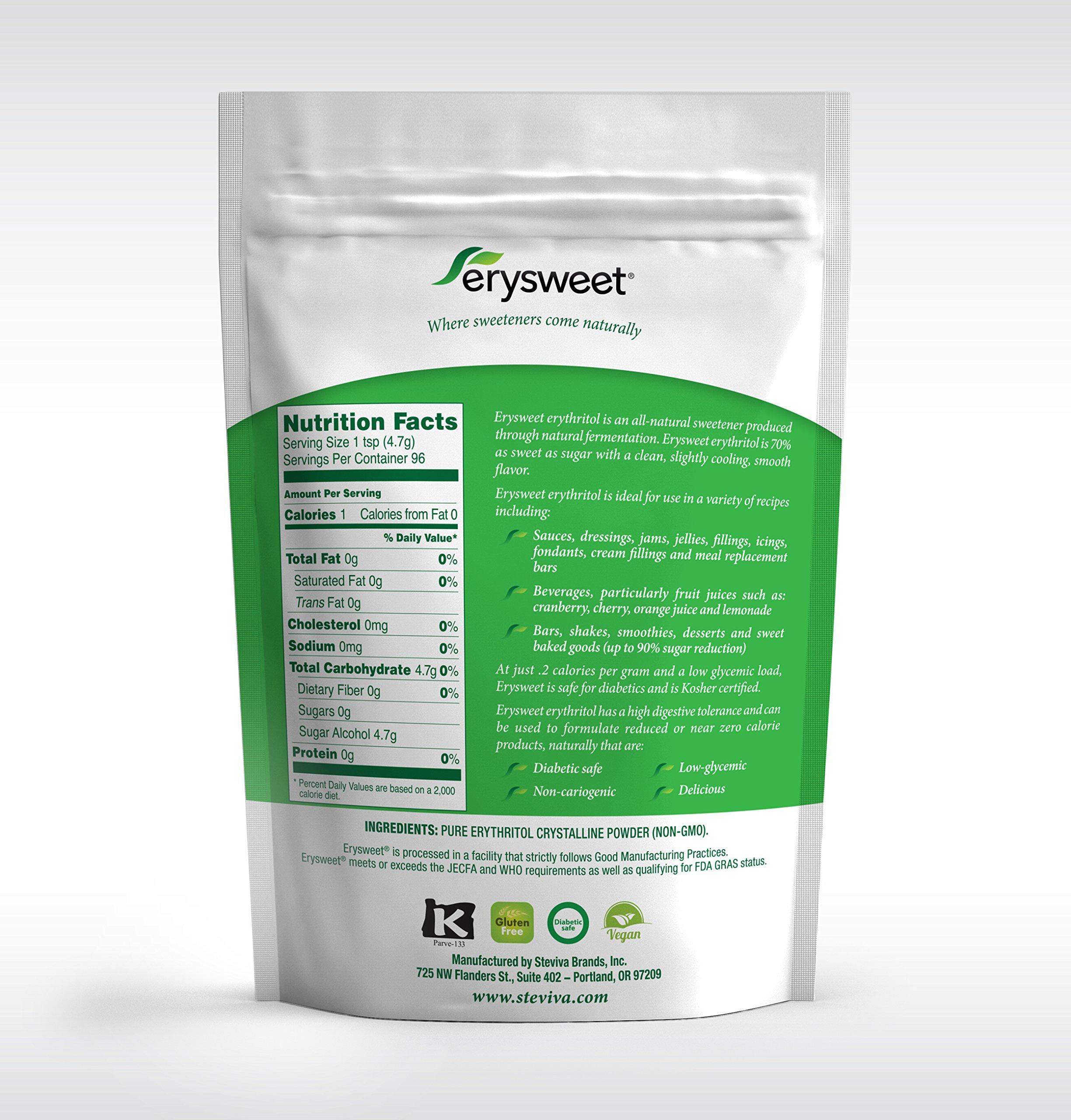 Erysweet Erythritol 1 lb bags/ 3 pack NonGMO Low Carb Sweetener