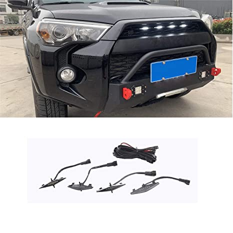 Amazon.com: ZGAUTO Grill Light Fit for 4Runner TRD Pro ...