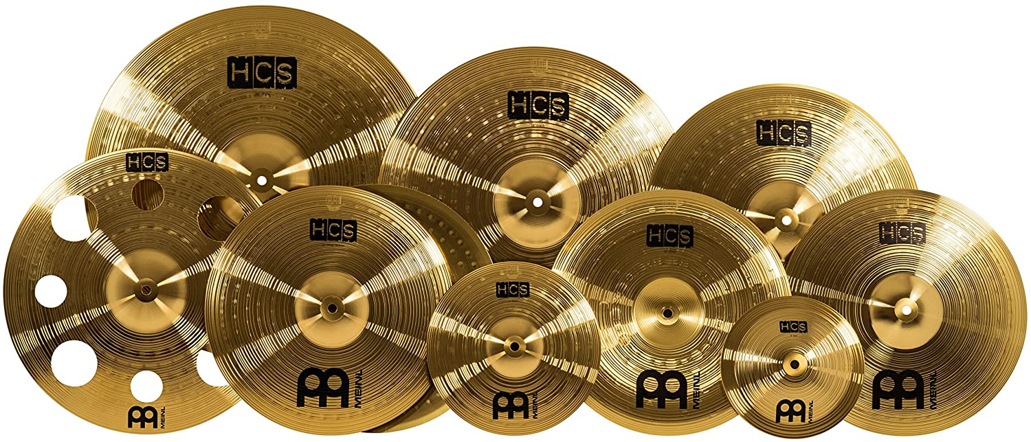 Meinl Cymbals HCS-SCS1 Ultimate HCS Cymbal Box Set Pack with FREE 16-Inch Trash Crash (VIDEO)