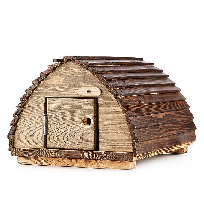Berk - Caseta de erizos de Madera Maciza, construcción de erizos, estación de alimentación de erizos, Refugio en el jardín: Amazon.es: Jardín