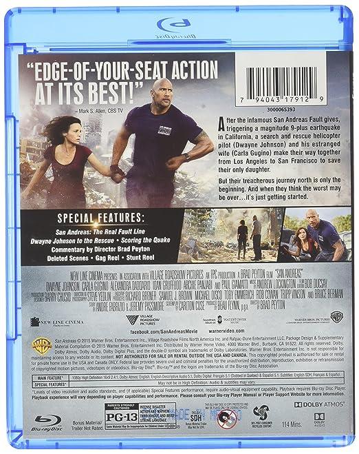 San Andreas [USA] [Blu-ray]: Amazon.es: Dwayne Johnson, Carla Gugino, Alexandra Daddario, Colton Haynes, Ioan Gruffudd, Kylie Minogue, Paul Giamatti, ...
