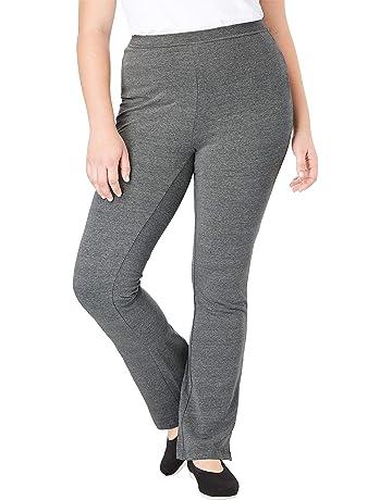 9537228b22f Woman Within Women s Plus Size Petite Stretch Cotton Bootcut Yoga Pant