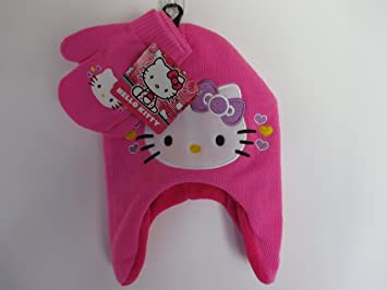 91e5220e324 Amazon.com   Hello Kitty Hat Gloves Pink w White Face Fleece Lined   Baby