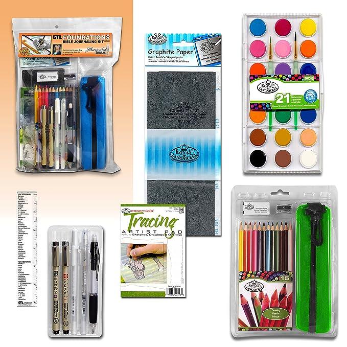 amazon com foundations bible journaling kit arts crafts sewing