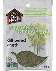 Club House, Quality Natural Herbs & Spices, Organic Dill Weed, 12g