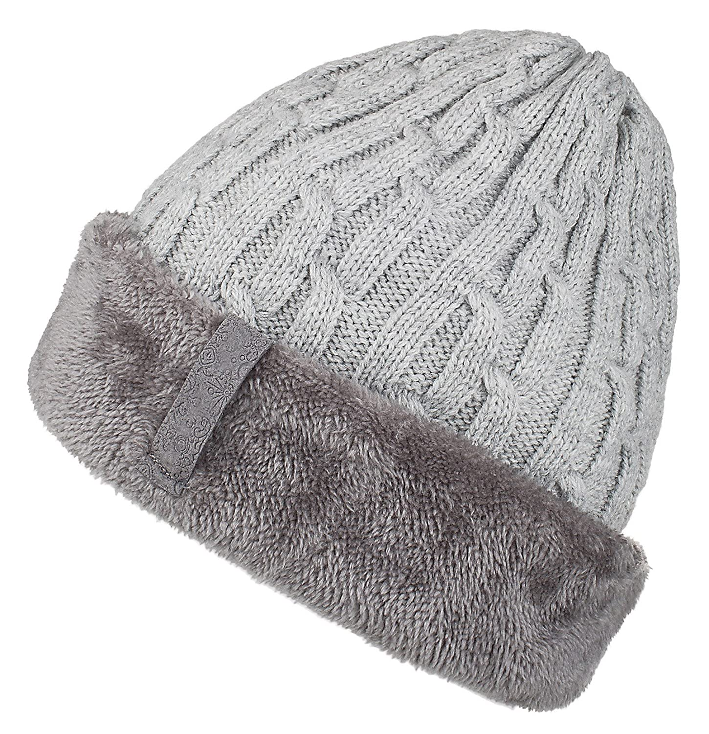 Spikerking Mens Knitting Caps Winter Hats Beanie Skull Hat with Thick  Lining f96bed5a7ce