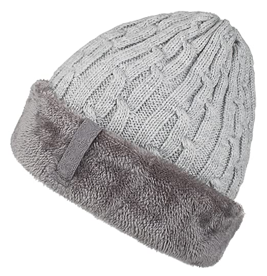 ed8c438d24a Spikerking Mens Knitting Caps Winter Hats Beanie Skull Hat with Thick Lining