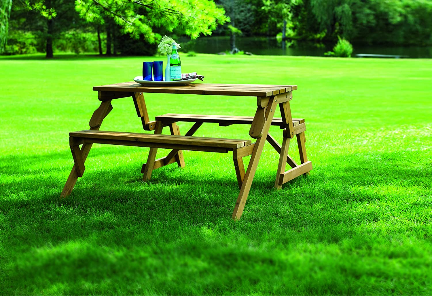 Amazon.com : Merry Garden Interchangeable Picnic Table And Garden Bench :  Patio, Lawn U0026 Garden