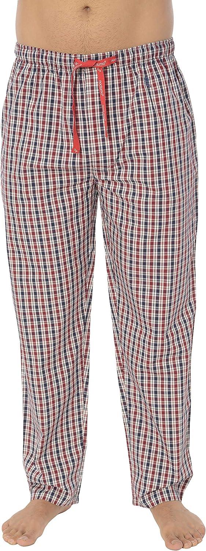 Pantaloni Pigiama Lunghi a Righe oa Scacchi da Uomo El B/úho Nocturno Abbigliamento da Notte Classico per Signori 100/% Cotone Popeline