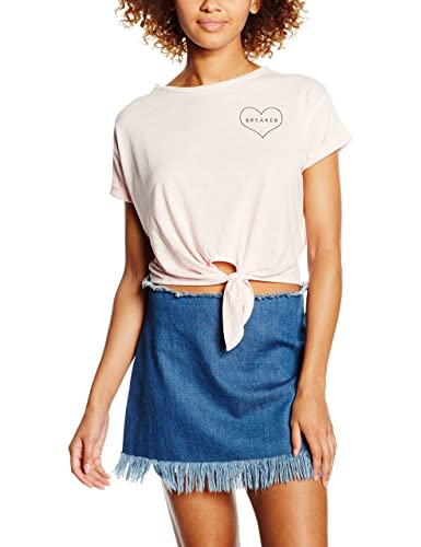 New Look Heart Pocket, Camiseta sin Mangas para Mujer